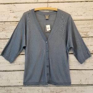 Ann Taylor Blue 1/2 Sleeve Size Medium NWT